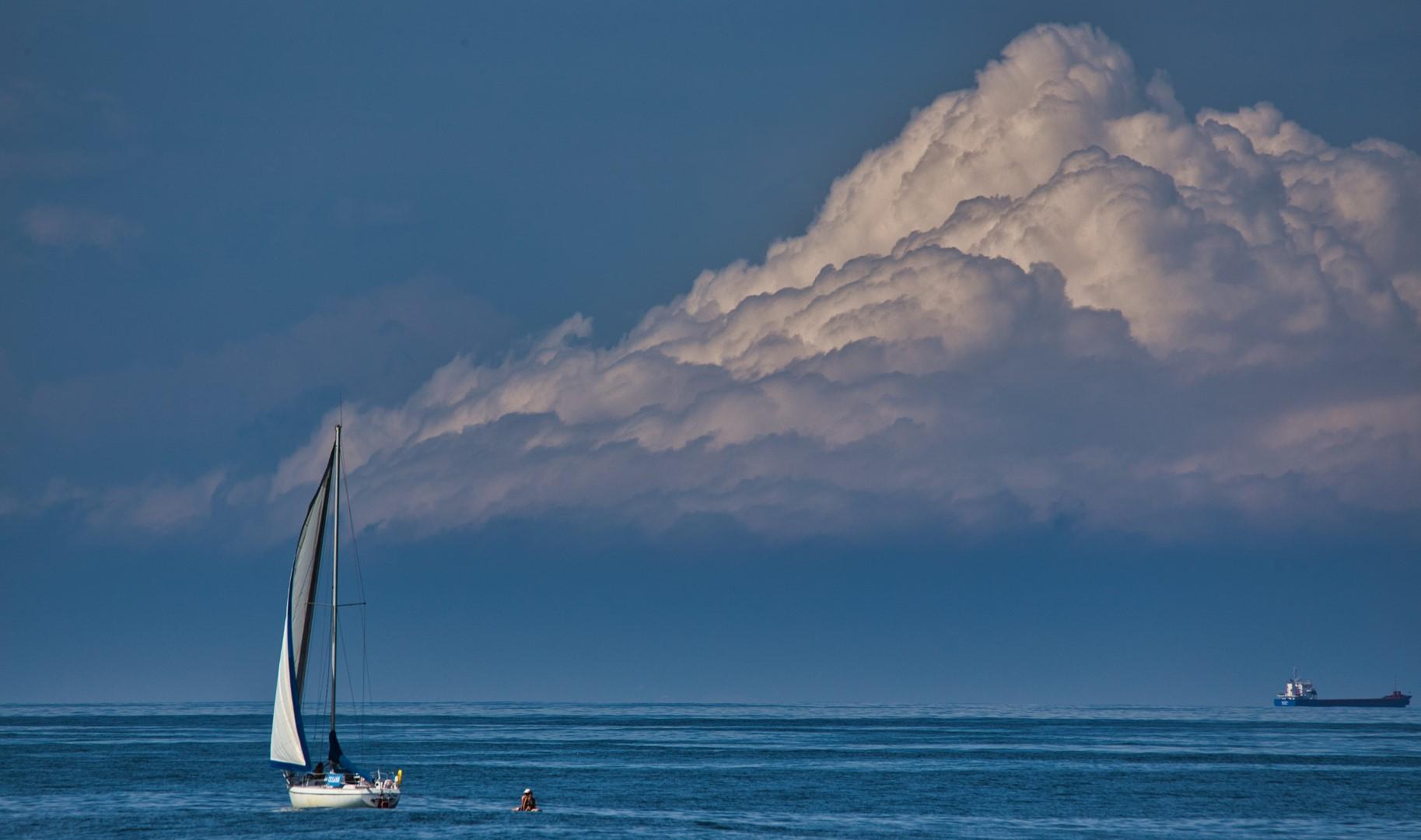 voilier au large de Capbreton