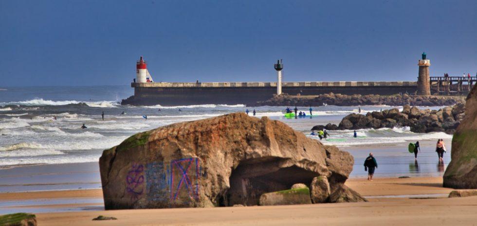 Blockaus à la plage de la Piste et l'Estacade