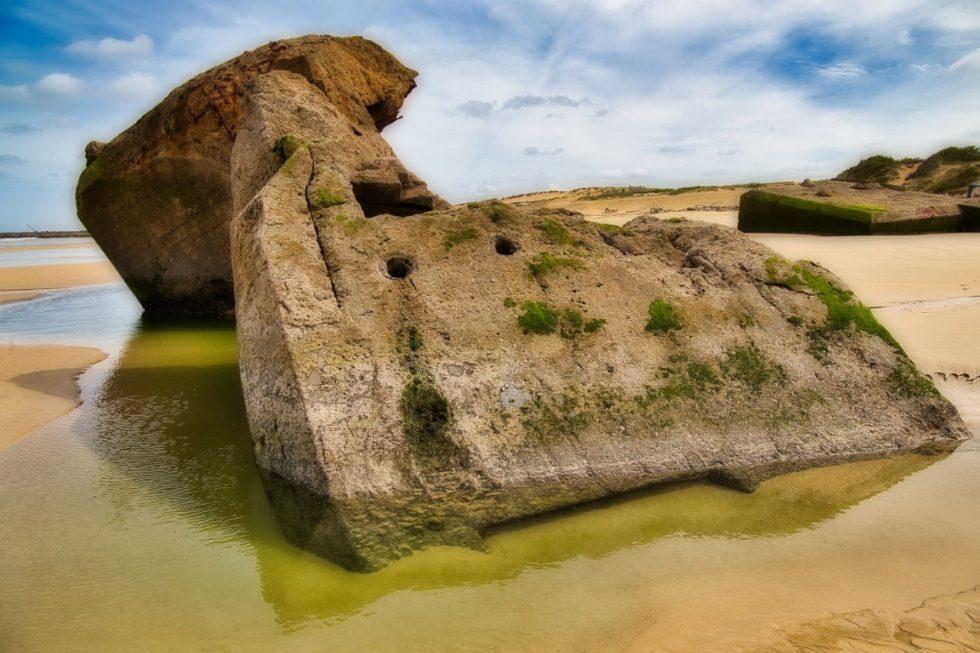 Blockaus à la plage de la Piste